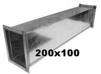 Воздуховод 200 x 100 мм (1 метр погонный)