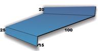 Отлив цокольный 100мм, крашенный RAL