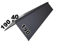 Конёк крыши 190х40х190 мм (1м погонный)